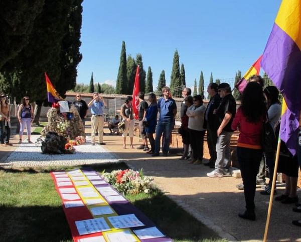 Homenaje a las victimas del franquismo del Foro por la Memoria en Guadalajara. Foto: Foro por la Memoria.