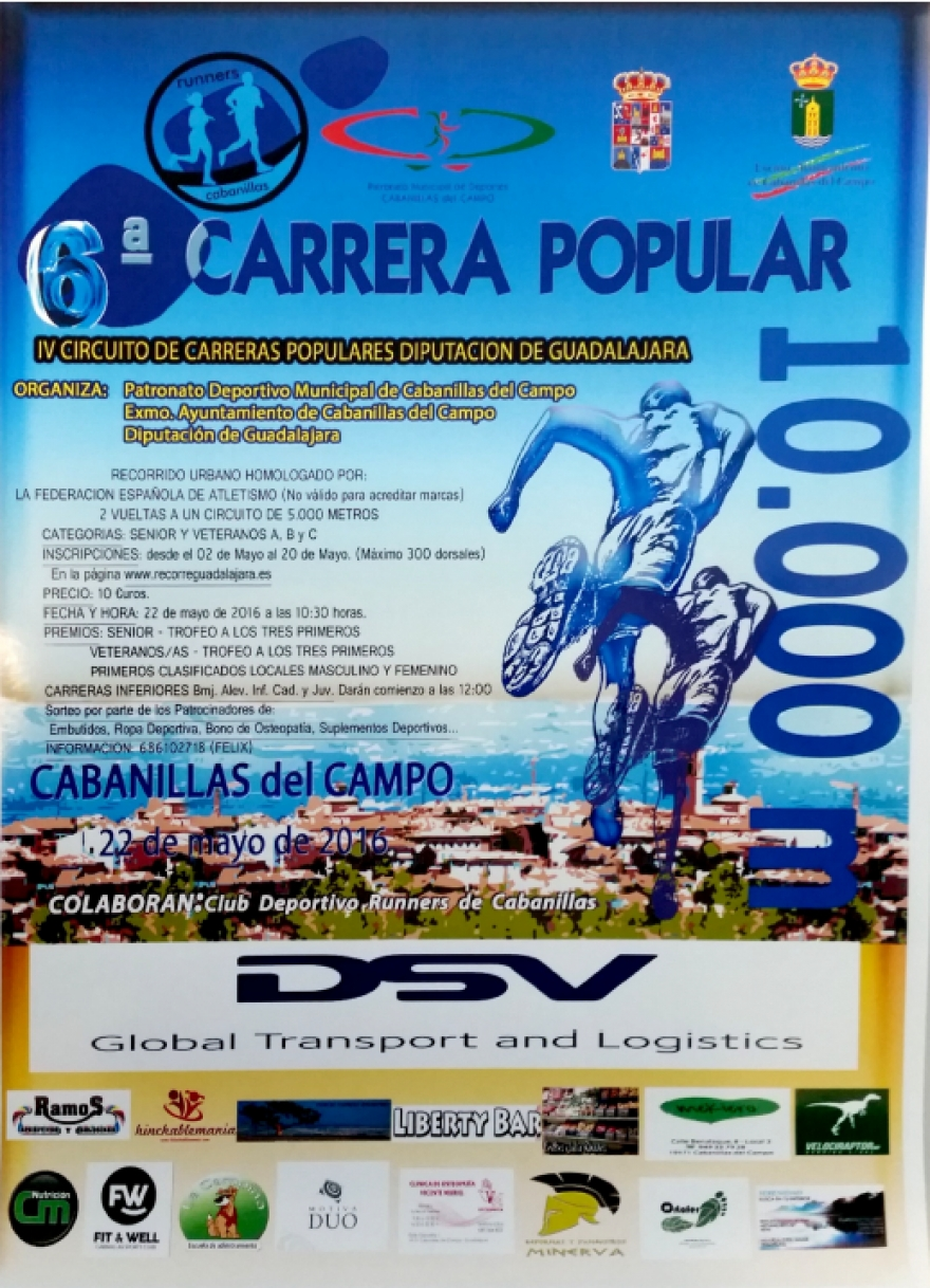 VI Carrera Popular de Cabanillas, este domingo