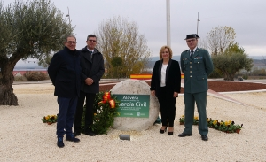 Homenaje en Alovera a la Guardia Civil.